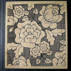 JRL Design Rubber Stamp Paris Floral Background